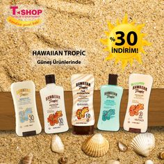 Hawaiian Tropic Güneş Ürünlerinde % 30 İndirim ! #kendinegüzelbak #tshopkozmetik #kampanya #indirim #güneş