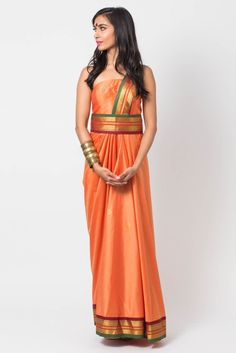 Saffron silk sari dress with pleat detailing and detachable belt Estimated shipping: weeksCare instructions: Dry clean only Sari Dress, Bra Cup Sizes, Two Piece Skirt Set, Summer Dresses, Silk, Skirts, Collection, Fashion, Bra Sizes