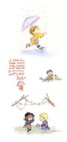 Le Petit Elefant watercolor illustrations... Wonderful!!    http://www.ohsweetbabies.com/decoration-innocent-children-s-illustrations.php