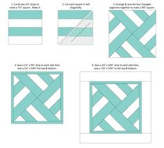 Sewing Pillows SheQuiltsALot Geometric Pillow Tutorial More - I've been making a lot of pillows lately as part of my determination to Make More Buy Less this year. Jelly Roll Quilt Patterns, Quilt Block Patterns, Pattern Blocks, Quilt Blocks, Pillow Patterns, Fat Quarter Quilt Patterns, Pattern Sewing, Patchwork Pillow, Patchwork Quilting
