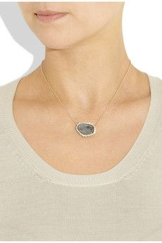 stone/diamond necklace