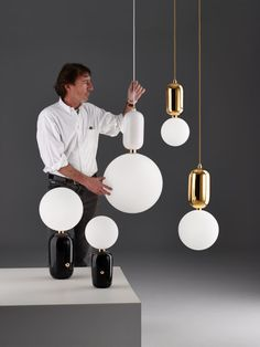 """Jaime Hayon's ABALLS are made with """"rich materials, traditional skills blended with artisanal craftsmanship and impeccable finishes.""""  http://design-milk.com/parachilna-launches-lighting-stephen-burk-jaime-hayon/"""