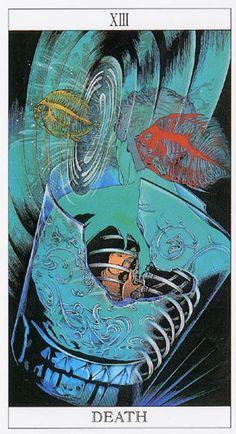 XIII.  Death - Love and Mystery Tarot by Yoshitaka Amano