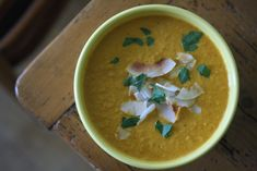 Red Curry Roasted Carrot Soup - 9 Vegan Thanksgiving Recipes - Shape Magazine - Page 2 Carrot Coconut Soup, Curried Carrot Soup, Carrot Curry, Vegan Pumpkin Soup, Coconut Curry, Coconut Milk, Red Carrot, Vegan Soup, Soup Recipes