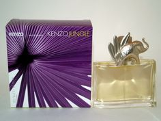 Jungle Elephant  by  Kenzo  -------------- created in 1996 --------------- It opens with airy mandarin, fresh cardamom, cumin and clove. The heart:  ylang-ylang, licorice, mango and heliotrope, the base:  patchouli, vanilla, amber and cashmere,