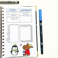 Swipe ➡️➡️➡️ ITS MY LAST WEEK OF CLASS!!  I am so happy this semester is coming to a close! I'm working my off to make sure I finish with all A's! This weeks spread is one of my favorites to date! I added a headache tracker because I've been getting really bad headaches and I want to see if that's correlated with wearing my glasses  and the doodles are just adorable ❄️ . . . . . . #bujo #bulletjournal #planner #planning #planwithme #journal #journaling #bujojunkies #bujoaddicts #bujoc...