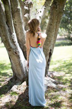 Judith March Chambray Maxi Dress
