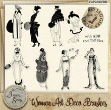 Women Art Deco Brushes