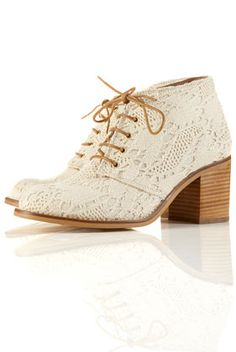 Off-white crochet ankle boots! I LOVE THEM