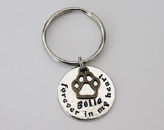 Dog Keychain.  Forever In My Heart. Dog by JewelryImpressions