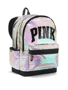 Victoria Secret Rucksack, Mochila Victoria Secret, Victoria Secret Rosa, Vs Pink Backpack, Sequin Backpack, Backpack Bags, Fashion Backpack, Laptop Backpack, Rosa Bling