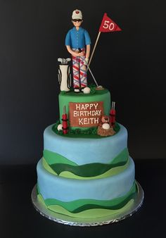 Golf Caddyshack Cake Mycreations Pinterest Cakes