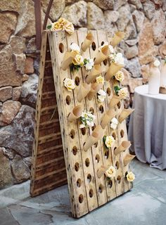Lovely DIY display board for rose petal or confetti cones! Chic Wedding, Wedding Details, Rustic Wedding, Our Wedding, Nontraditional Wedding, Wedding Pins, Spring Wedding, Wedding Flowers, Wedding Favors