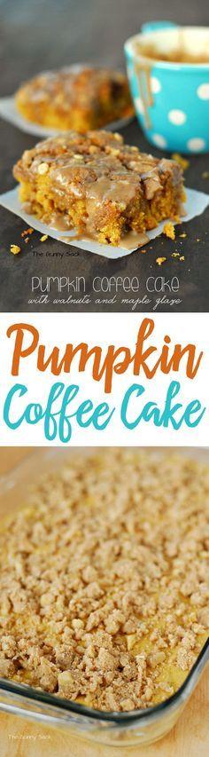 Streusel Topped Pumpkin Coffee Cake