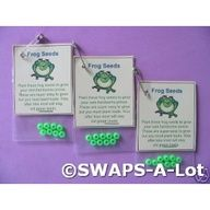 candy swap for girls scouts | Frog seeds! Cute Girl Scout swap.