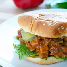 Slow cooked BBQ beef made into a mouthwatering sandwich.