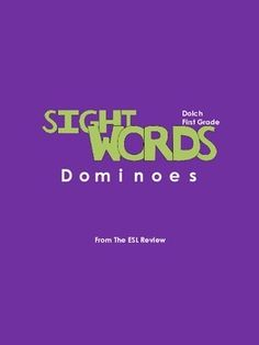 Play dominoes with your students to memorize all 41 Dolch Grade 1 sight words using these elegantly crafted domino sets. This packet includes: - 4 different domino sets- instructions for playing dominoes.Enjoy!Dont forget to try:* Sight Words Dominoes - Pre-primer* Sight Words Dominoes - Primer