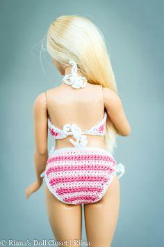 b26bdb0313c1c Articoli simili a Barbie Basic Blue Crochet Dress 002 su Etsy