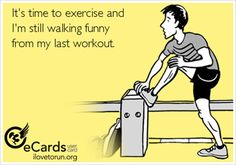 Most Funny Workout Quotes QUOTATION – Image : Quotes Of the day – Description 20 Gym Jokes To Get You Through Your Next Workout:It's time to exercise and I'm still walking funny from my last workout. Sharing is Caring – Don't forget to share this quote ! Fitness Memes, Humour Fitness, Gym Humour, Fitness Motivation, Exercise Humor, Motivation Quotes, Crossfit Humor, Health Fitness, Funny Fitness