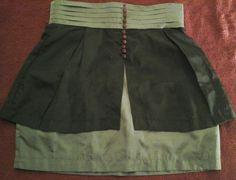 Twelve by Twelve Black Gray Skirt Size XS Sexy Holiday Party Evening   #twelvebytwelve #Mini