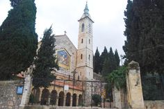 The Franciscan Visitation church in the village of Ein Kerem (Karem), on the west side of Jerusalem, is named after virgin Mary's visited to the summer house of the parents of John the Baptist. Ein Kerem  is according to tradition the birthplace of John the Baptist.