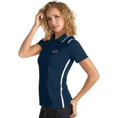 Women's Antigua Utah Jazz Merit Desert Dry Polo, Size: Medium, Blue (Navy)