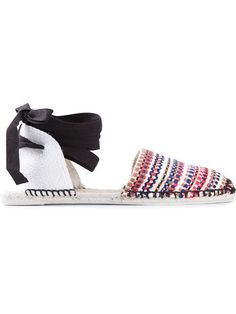 Shop Castañer tie detail espadrilles in Di Pierro from the world's best independent boutiques at farfetch.com. Over 1500 brands from 300 boutiques in one website.
