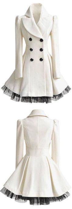 White Ruffled Tulle Coat - I'm too short wasted to wear this.  Very pretty