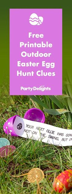 Planning an outdoor Easter egg hunt? Download our free printable Easter egg hunt clues to make yours eggs-tra special!