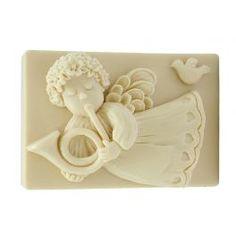 Molde Angelito Volando con Trompeta, molde para jabones de navidad. Ideal para hacer jabones con niños o detalles de navidad. DIY