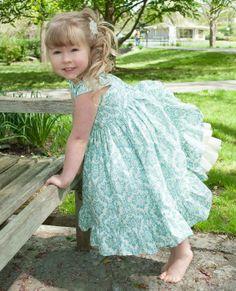 Damask Ruffle Dress, Flower Girl Dress, Easter Dress, Summer Dress on Etsy, $42.00