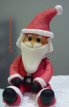 Papa Noel (pasta de modelar)