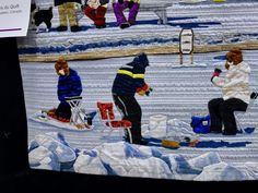 """""""Ice Fishing Village"""" by Les Amies du Quilt - detail 4"""