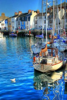 A view of the Cove area of Weymouth Harbour (Dorset, England) - may not be typically adventurous but i have always loved this place! Weymouth Harbour, Weymouth Dorset, Weymouth Bay, Beautiful World, Beautiful Places, Great Britain, Wonders Of The World, Places To See, Scenery