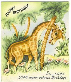 Happy Birthday card (Long Stretch)