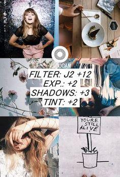 Edição de Fotos Estilo Tumblr para o Instagram usando o App VSCO Cam, filtro J2 Resultando em fotos estilo tumblr girl para o instagram!