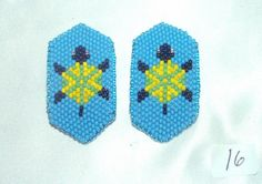 Barrette Girls Set of 2 Authentic Native American Beadwork  Turtle New Adorable little girls barrettes. Native American made. Set of 2 for 24.95 inc free shipping w/ in USA #barrettes #nativeamerican #hairaccessory