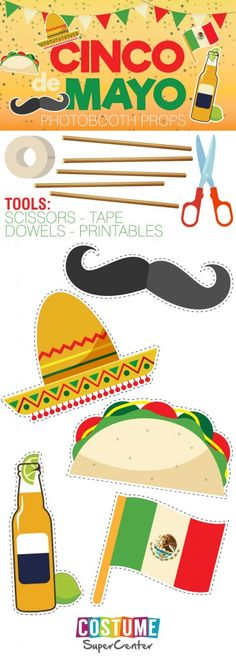 It's #CincoDeMayo! Get your celebration on with these FREE and fun printables! From a beer to a taco to a sombrero, they're sure to turn any photo op into photo booth fun!