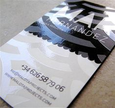 Spot Varnish Business Card Design Example 5 Types of Printing Techniques for Business Cards with Examples