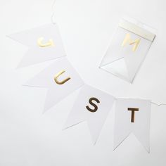 "【My Mind's Eye】Fancy ""Just Married""Letter Banner 