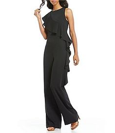 7ced559f5a26 Gianni Bini Reese Choker Neck Bubble Sleeve Jumpsuit