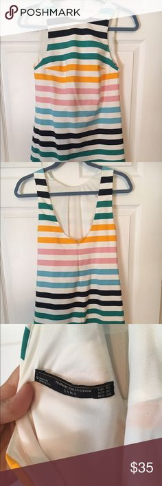 NWOT Zara Trafaluc Collection Dress Bateau neck with scoop back. Hits just above knees (I'm 5'3). Zara Dresses