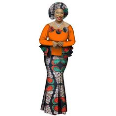 2018 Autumn African Skirt Set For Women Dashiki 2 Piece Sets African Clothes Elegant Traditional African Clothing African Fashion Ankara, Latest African Fashion Dresses, African Dresses For Women, African Print Fashion, African Attire, African Skirt, African Clothes, African American Fashion, Ankara Skirt