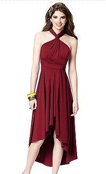 Bridesmaid dress dessy-twist-convertible-dress-with-wrap-skirt Dessy Bridesmaid, Elegant Bridesmaid Dresses, Bridal Dresses, Prom Dresses, Bridesmaid Outfit, Wedding Bridesmaids, Wedding Attire, Blue Dresses, Convertible Dress