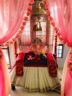 Top 81 fresh, creative & innovative Ganpati decoration ideas for home that is not only unique but easy on pocket as well.