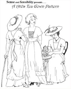 1910s Tea Gown Pattern | Sense & Sensibility Patterns. Have not tried it yet.