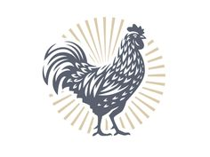 Rooster designed by Sergey Kovalenko. the global community for designers and creative professionals. Rooster Tattoo, Rooster Logo, Rooster Art, Chicken Tattoo, Chicken Logo, Chicken Art, Huhn Tattoo, Rooster Illustration, Chicken Illustration