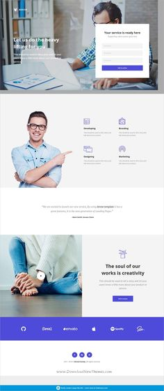 16 best lead magnet landing page examples images landing pagearrow is clean and modern design 4in1 responsive unbounce template for multipurpose landingpage website