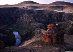 "The Canyon that separates Turkey and Armenia. In 1915, after Ottoman authorities issued an order calling for the ""deportation"" of the entire Armenian population, a frenzy of killing began across the region, which today lies in eastern Turkey"
