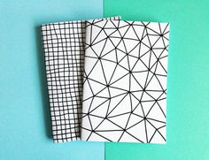 gridded and geometric notebooks